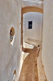Old house in Santorini. Old house and narrow street in Emporio Village , Santorini Stock Images