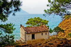 Old house on the seashore Royalty Free Stock Photo
