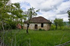 Old house in the Serbian village stock photography