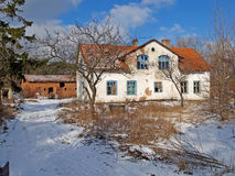 The old house in the settlement, the Kaliningrad region Stock Image