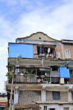 Old house at shapowei fishing harbor Stock Photo