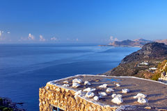 Old House on the shores of the Mediterranean Sea Stock Photo