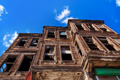 Old house and sky Royalty Free Stock Images