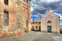 Old house and small church, Italy. Royalty Free Stock Photo