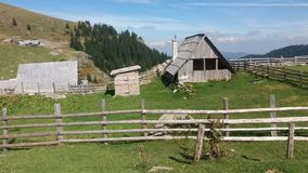 Old village on mountain. Small house in nature Royalty Free Stock Images