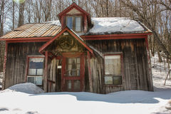 Old house with snow Royalty Free Stock Image