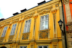 Old house in  Sopron (Ödenburg), Hungary. When the area that is today Western Hungary was a province of the Roman Empire, a city called Scarbantia stood Royalty Free Stock Image