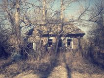 Old house. In spring day Stock Photos