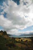 Old house stands by Lago Gran Carrera - Puerto Rio Tranquilo - Royalty Free Stock Photos