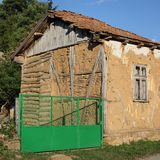 Old house at Stara Planina or Balkan Mountain, Serbia Europe. Traditional  old house with new fence in South-East Serbia or Bulgaria, Balkan Mountain - Stara royalty free stock photos