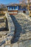 Old house and Stone bridge  in Moushteni near Kavala, East Macedonia and Thrace Stock Photos