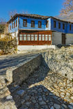 Old house and Stone bridge in Moushteni near Kavala, Greece Stock Photography