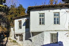 Old house and street from ottoman period in Xanthi, East Macedonia and Thrace Stock Images