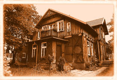 Old house, styling at an old photograph Royalty Free Stock Photography