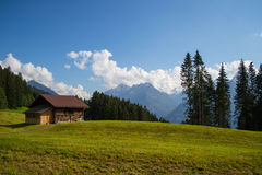 Old house at Swiss Alps Stock Photos