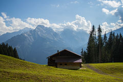 Old house at Swiss Alps Royalty Free Stock Photo
