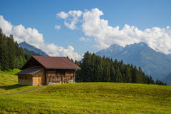 Old house at Swiss Alps Royalty Free Stock Photos