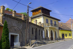 Old house in Szekszard. Old building of the Wine Museum in Szekszard, Hungary Stock Photography