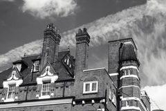Old house with tall chimneys Royalty Free Stock Photo
