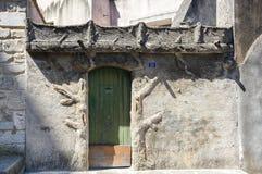 View of Pont-Saint-Esprit. Old house in town Pont-Saint-Esprit, France Royalty Free Stock Photos