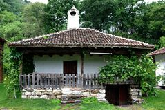 Old Serbian House. Traditional countryside familiy house from eastern Serbia stock images