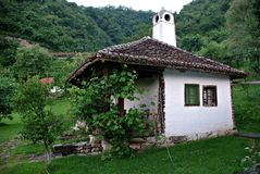 Traditional Serbian Old Country House. Traditional countryside family house from eastern Serbia at open space ethnographic museum stock images