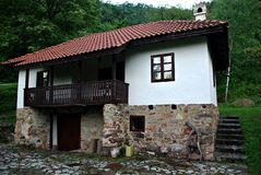 Old Serbian Country House. Traditional countryside familiy house from eastern Serbia royalty free stock photography