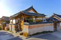 Old House Traditional Korean style architecture at Bukchon Hanok Village Stock Photo