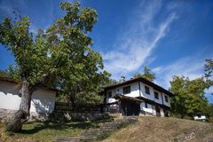 Old House And Tree. Houses built in old, traditional, Bulgarian style royalty free stock photos