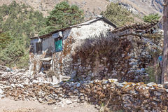 Old House. Trekking above Namche Bazaar Everest Foothills Sagamatha National Park nepal Royalty Free Stock Photo
