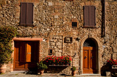 Old house in Ttuscany. House made of stones in an old city in tuscany Royalty Free Stock Photography