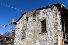Old house under renovation Royalty Free Stock Images