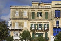Old house in Valletta. Malta.  Stock Photos