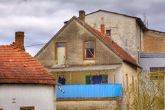 Old house. View of a old House bevore storm, evening, village Honzrath, Saarland / Germany Royalty Free Stock Image
