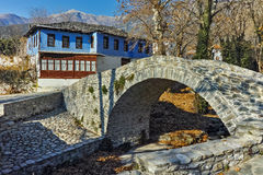 Old house in village of Moushteni near Kavala, East Macedonia and Thrace Royalty Free Stock Photos