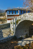 Old house in village of Moushteni near Kavala, East Macedonia and Thrace Stock Images