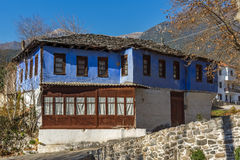 Old house in village of Moushteni near Kavala, Greece Royalty Free Stock Photos