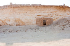Old house in a village in Zekreet desert, Doha, Qatar Royalty Free Stock Photography
