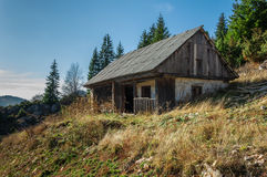 Old house. Old vintage house mountains landscape Stock Photography