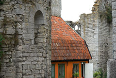 Old house in Visby Stock Photo