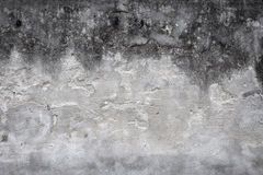 Old house wall with cracked plaster. Shades of gray. grunge textured background Royalty Free Stock Photo