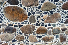 Old house wall of large stones Royalty Free Stock Images