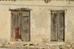 Old house wall. Outside Argostoli,Greece Stock Images