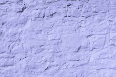 Lilac Washed Exterior Stone Wall Royalty Free Stock Image