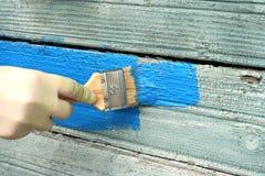 Old house wall renovation Stock Photo