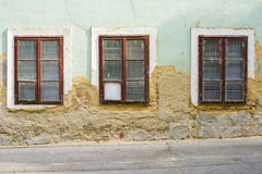 Old house wall with window Royalty Free Stock Photos