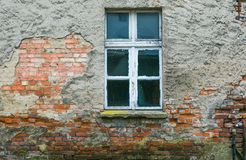Old house wall with window Royalty Free Stock Image