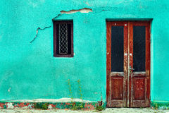 Free Old House Wall With Wooden Door And Window Stock Photography - 24931942