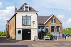 Old house and warehouse in Oud-Beijerland, Netherlands Royalty Free Stock Photos