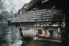 Old house by water Stock Photography